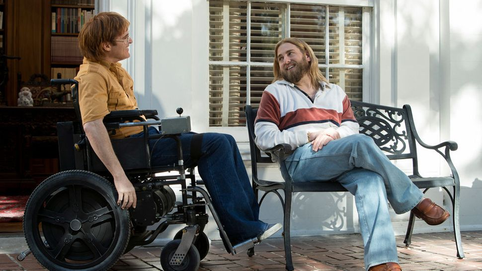 "Joaquin Phoenix and Jonah Hill in ""Don't Worry, He Won't Get Far on Foot."""