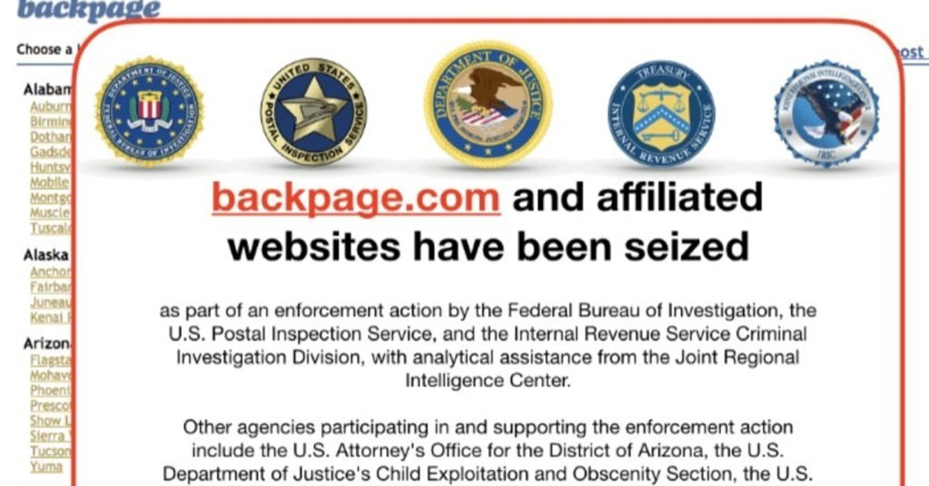 Feds Seize Backpage.com And Indict Founder In Prostitution Crackdown |  HuffPost