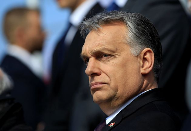 Hungarian Prime Minister Viktor Orbán attends the consecration of a statue in memory of Smolensk...