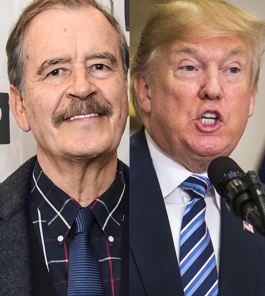 Politician Direct 5ac86f7c2000007d06eb41fa Former Mexican President Vicente Fox Promotes Donald Trump-Trolling T-Shirt Huffington Post Politics
