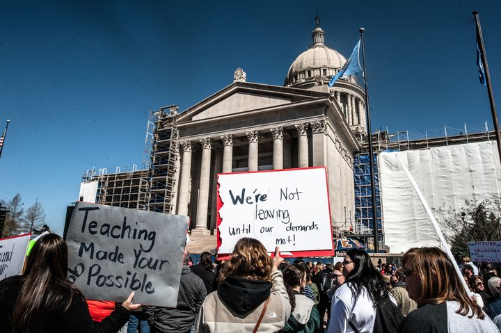 The teacher walkout in Oklahoma is expected to spill into its second week with teachers refusing to work until their demands
