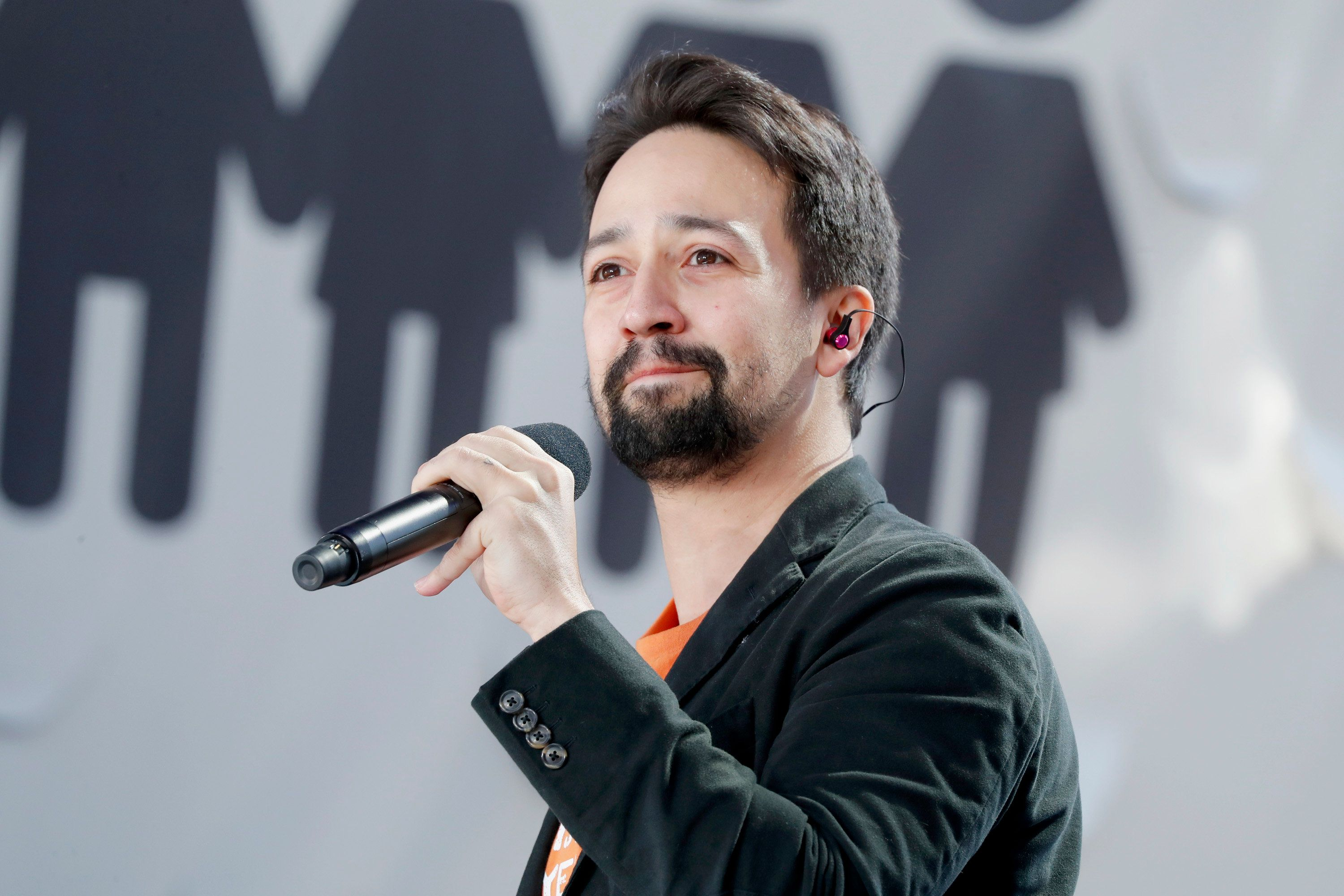 WASHINGTON, DC - MARCH 24:  Lin-Manuel Miranda performs onstage at March For Our Lives on March 24, 2018 in Washington, DC.  (Photo by Paul Morigi/Getty Images for March For Our Lives)