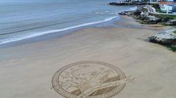 Pourquoi ces gigantesques sculptures sur sable apparaissent sur les plages d'Europe