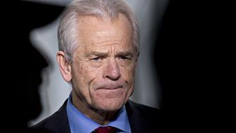 Peter Navarro, director of the National Trade Council, pauses during a Bloomberg Television interview outside the White House in Washington, D.C., U.S., on Wednesday, March 28, 2018. Navarro said the Trump administration's tariffs on China will focus on high-tech industries where Beijing wants to lead. Photographer: Andrew Harrer/Bloomberg via Getty Images