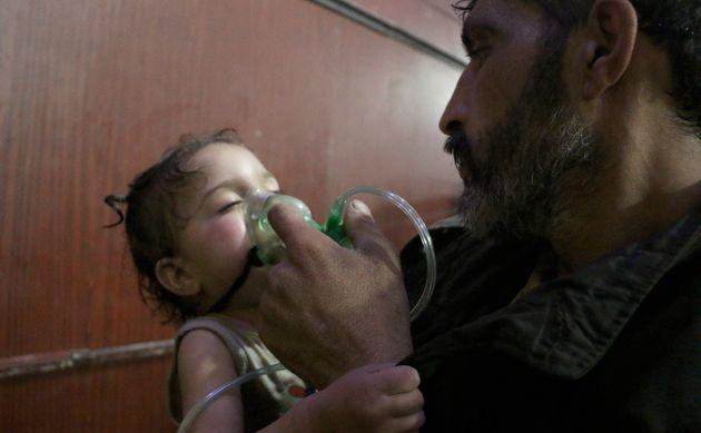 트럼프가 시리아 정부군의 '화학무기 공격'을