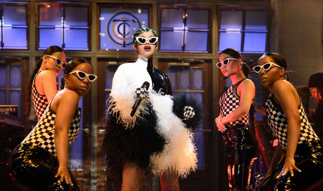 Looks We Love: Cardi B's Chequered Outfit For Her SNL