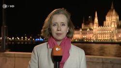 ZDF schaltet zur Ungarn-Wahl – plötzlich krabbelt etwas auf die Korrespondentin