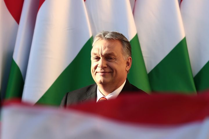 Hungarian Prime Minister Viktor Orban and the coalition led by his rightwing party swept to victory in elections over the wee