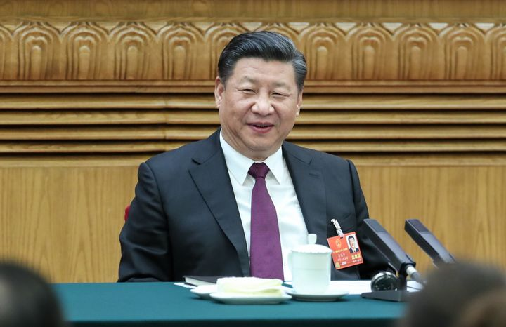 Chinese President Xi Jinping at the first session of the 13th National People's Congress in Beijing last month.