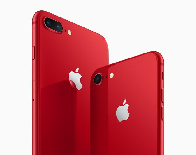 Apple Product Red iPhone 8 And iPhone 8 Plus