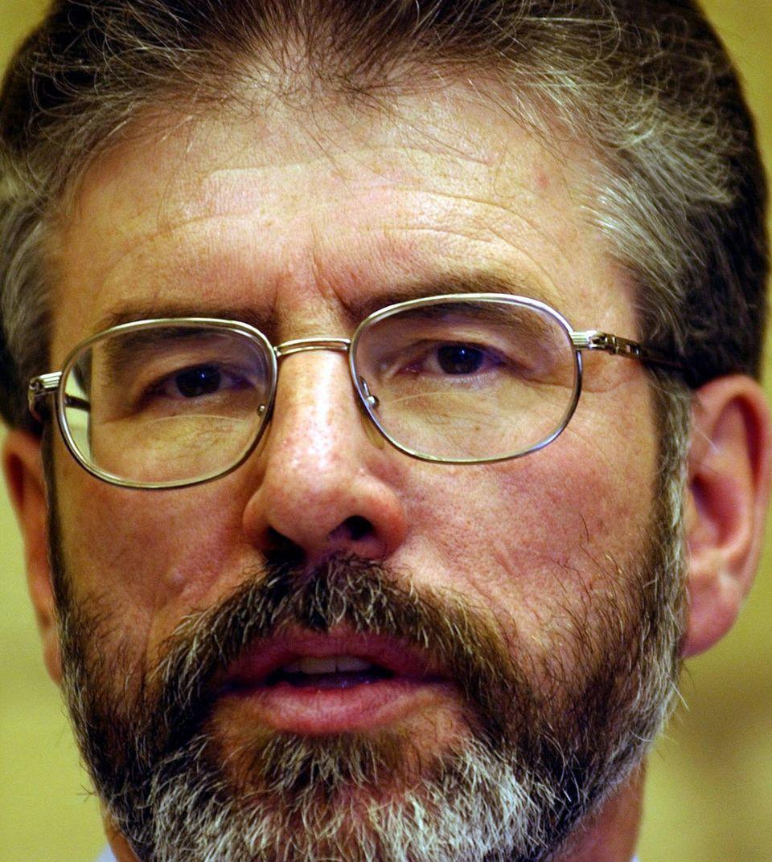 Gerard Adams was leader of Sinn Féin between November 1983 and February