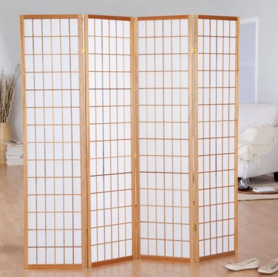 A room divider will make you feel like you actually have a closet to store your clothing. Section off a small area of your ro
