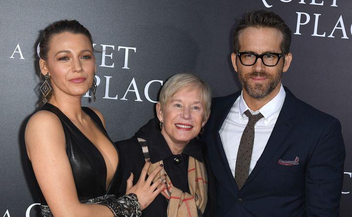 Blake Lively, Tammy Reynolds and Ryan Reynolds.