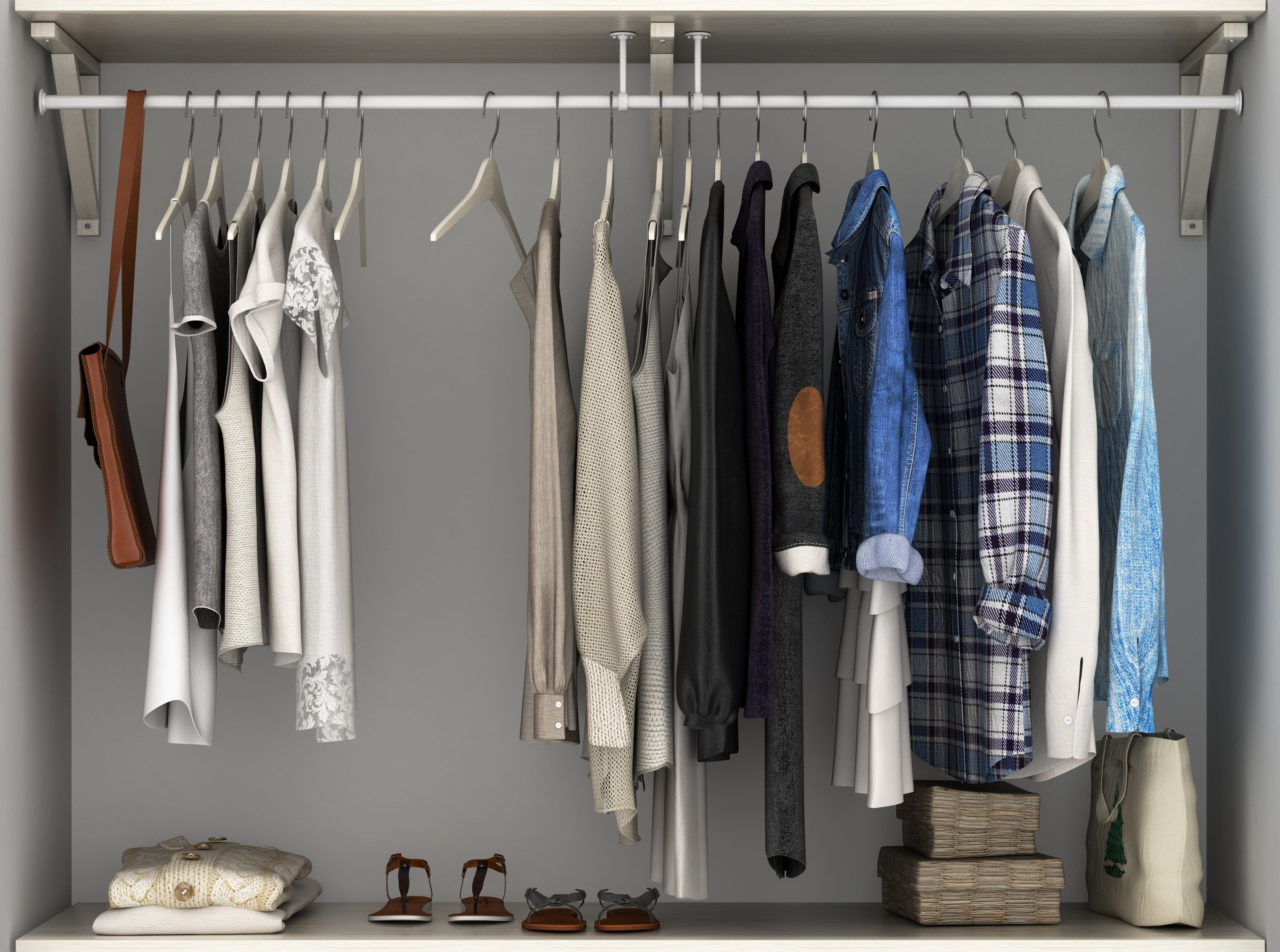 8 Ways To Store Your Clothes Without A Closet | HuffPost Life