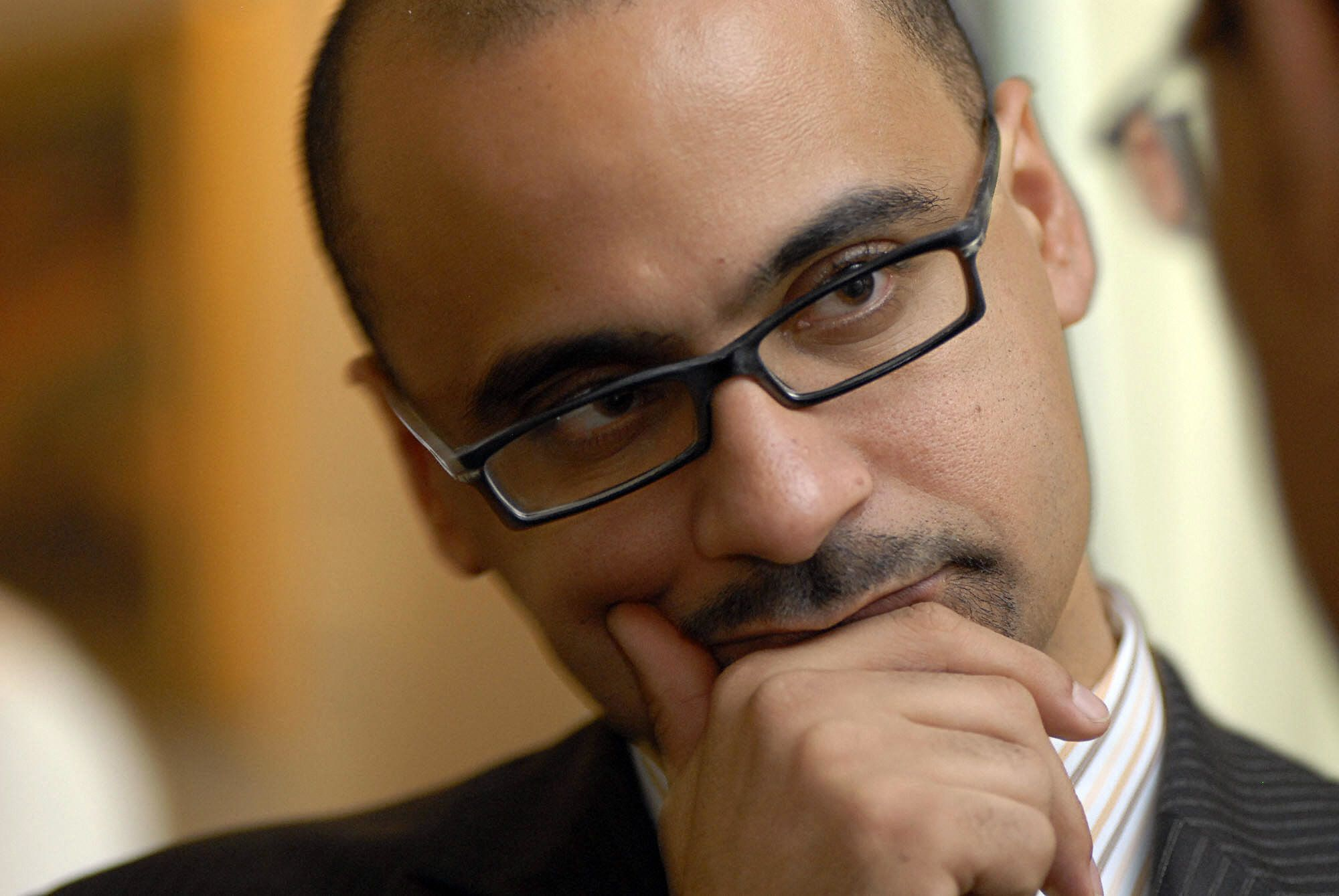Dominican MIT professor Junot Diaz, winner of the Pulitzer Prize for his novel 'The Brief Wondrous Life of Oscar Wao' attends a ceremony in Santo Domingo, on May 1, 2008. AFP PHOTO/Ricardo HERNANDEZ (Photo credit should read RICARDO HERNANDEZ/AFP/Getty Images)