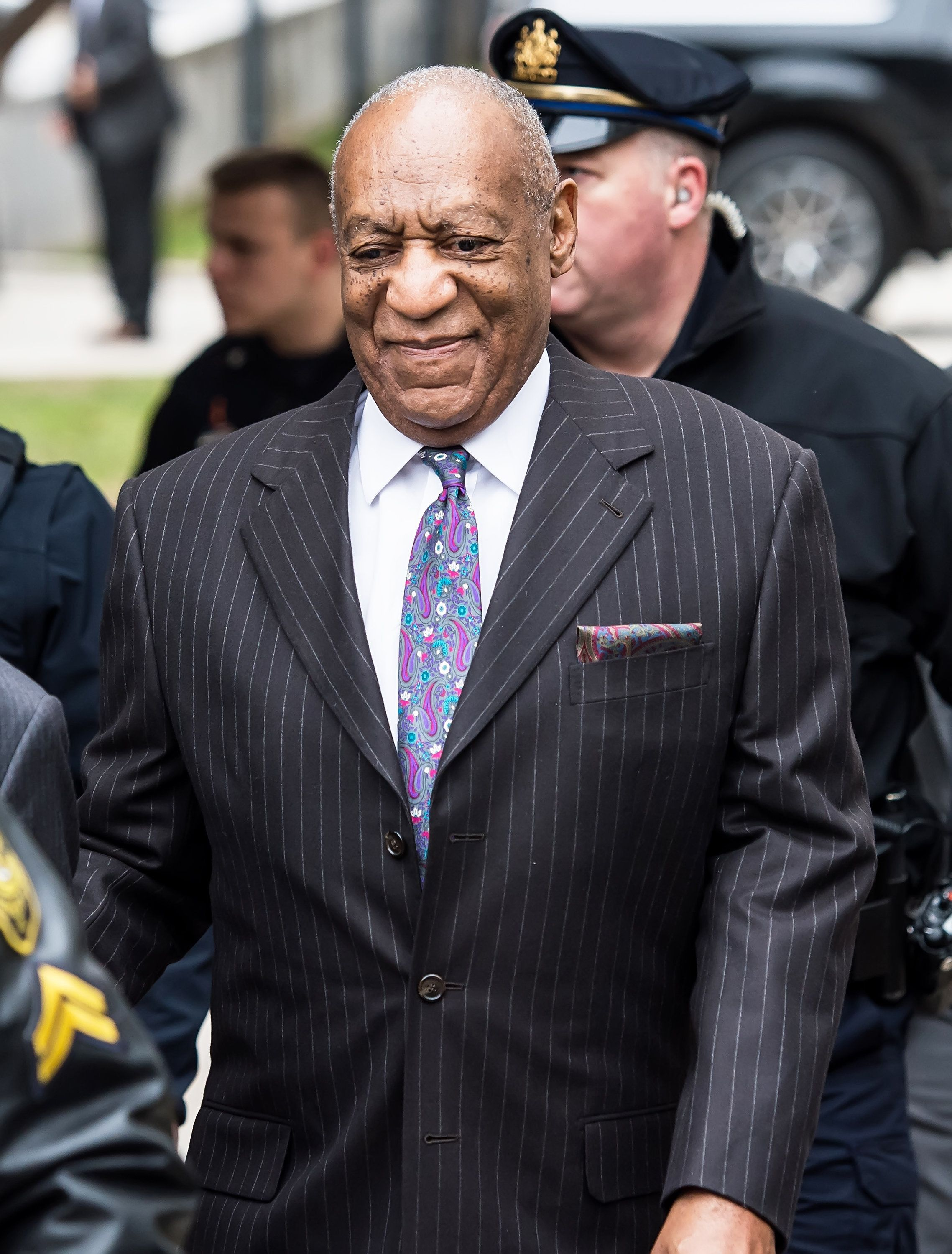 NORRISTOWN, PA - APRIL 09:  Actor/ stand-up comedian Bill Cosby arrives for first day of his Retrial For Sexual Assault Charges on April 9, 2018 in Norristown, Pennsylvania.  (Photo by Gilbert Carrasquillo/Getty Images)