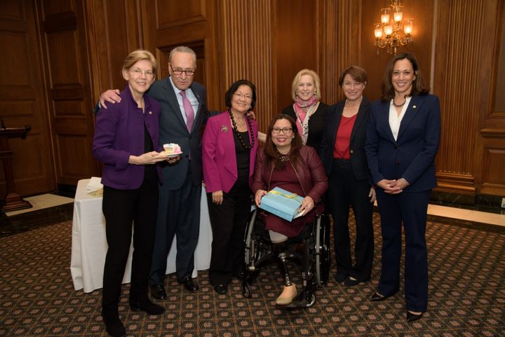 Some of her Senate colleagues threw a baby shower for Duckworth.