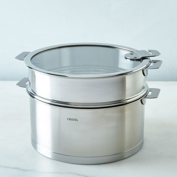 """Get it at <a href=""""https://food52.com/shop/products/2756-cristel-space-saving-stewpan-with-lid-5-5-quart"""" target=""""_blank"""">Foo"""