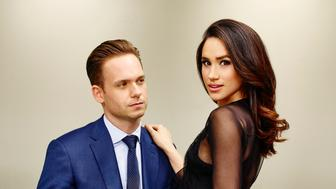 SUITS -- Season:5 -- Pictured: (l-r) Patrick J. Adams as Michael Ross, Meghan Markle as Rachel Zane -- (Photo by: Nigel Parry/USA Network/NBCU Photo Bank via Getty Images)