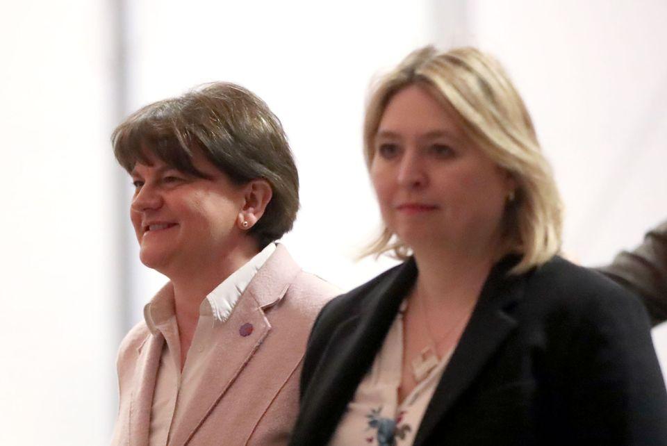 DUP leader Arlene Foster and Northern Ireland Secretary Karen
