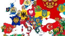 Όλα τα εθνόσημα χωρών της Ευρώπης σε έναν υπέροχο χάρτη που μαρτυρά την ιστορία του κάθε