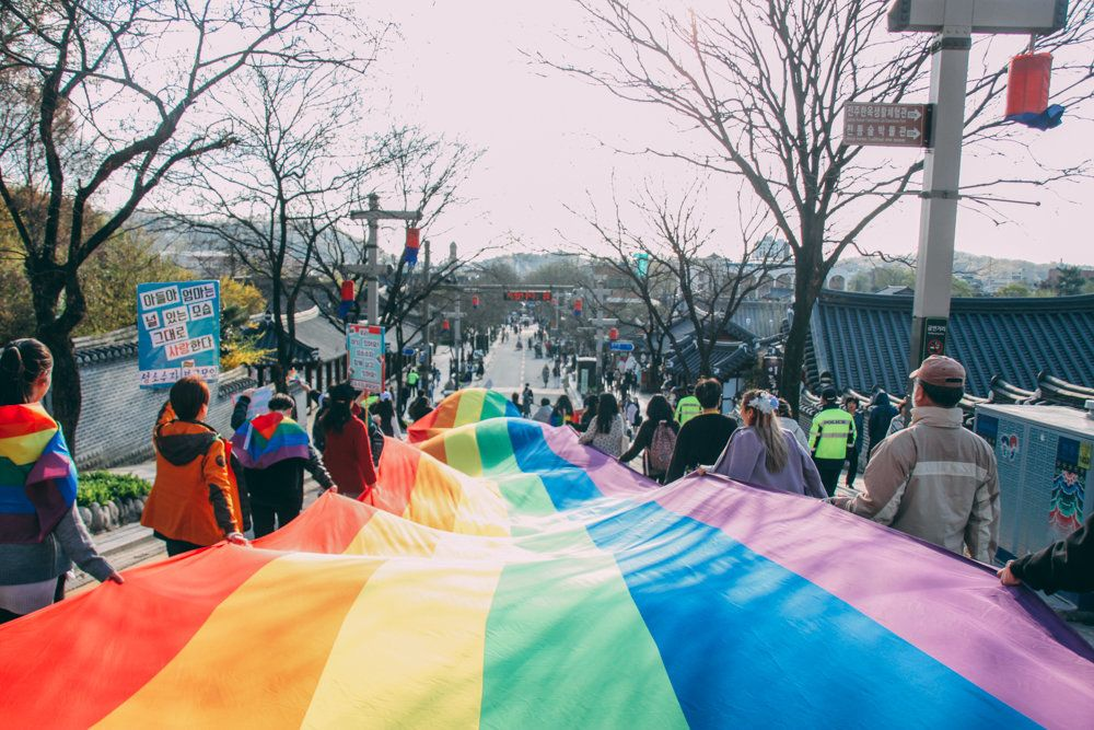 가장 한국적인 도시, 전주에서 열린 퀴어문화축제(화보)