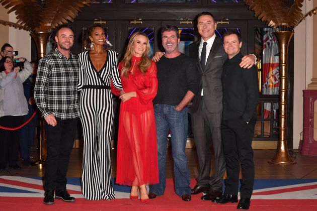 Ant and Dec with the judges at January's