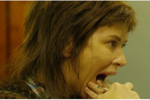 Marcella cut her mouth up in gruesome scenes in the series two