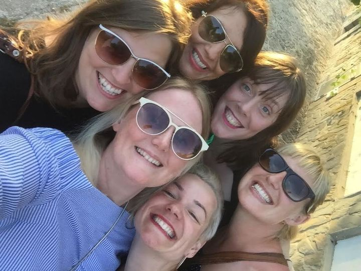 Jess Phillips [centre, back row] and her friends.
