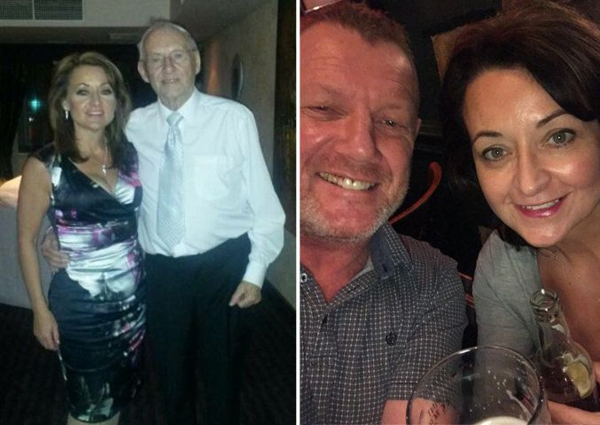 Left: Julie and her dad. Right: Gary and Julie.