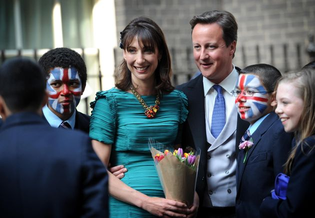 Then-Prime Minister David Cameron and his wife Samantha were invited to the Duke and Duchess of Cambridge's...