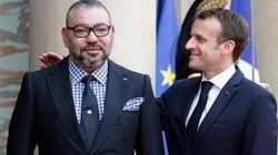 L'arrivée du roi Mohammed VI à l'Elysée en