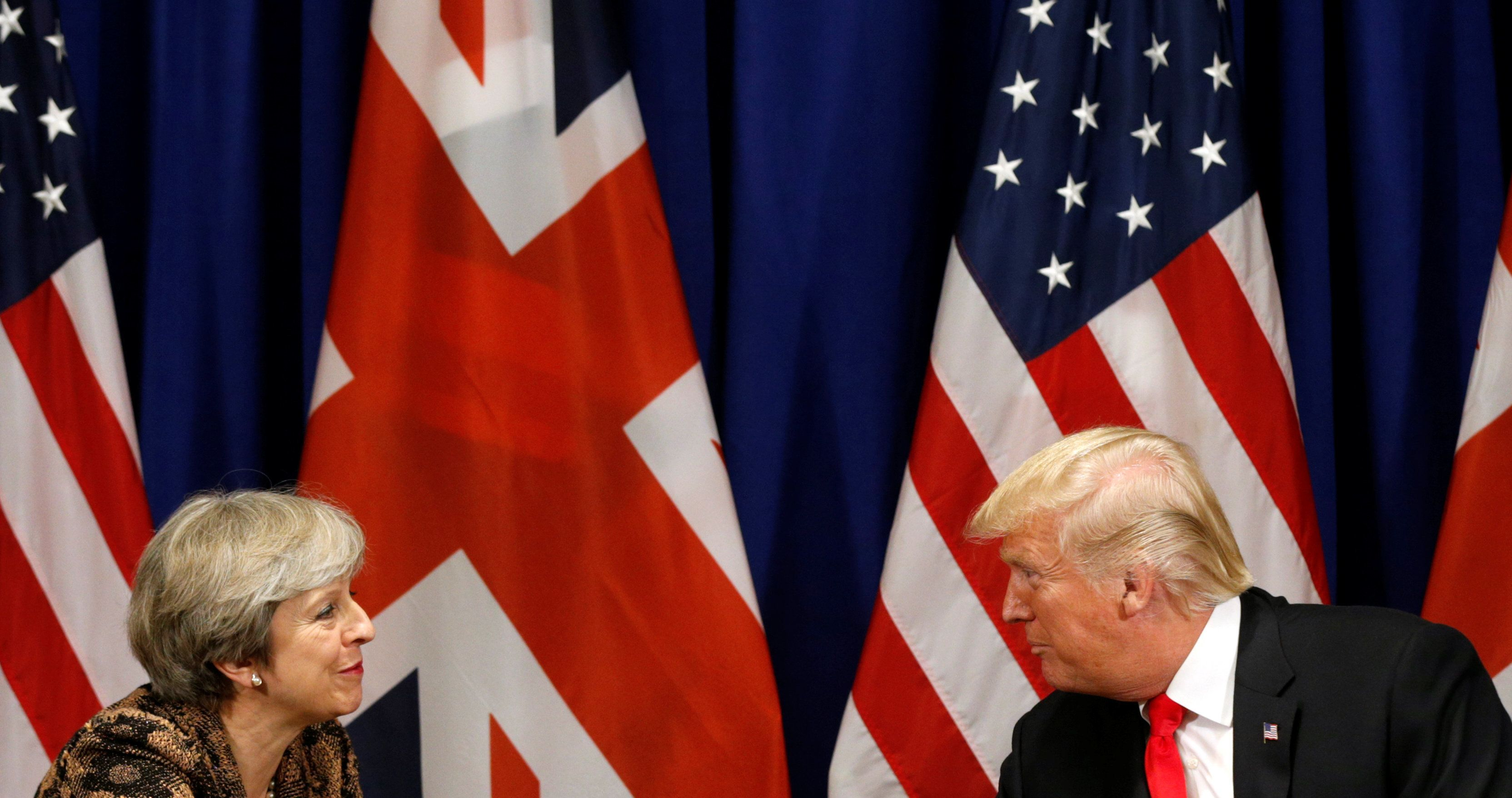 Kevin Lamarque  Reuters                   US President Donald Trump and British Prime Minister Theresa May at the UN last year