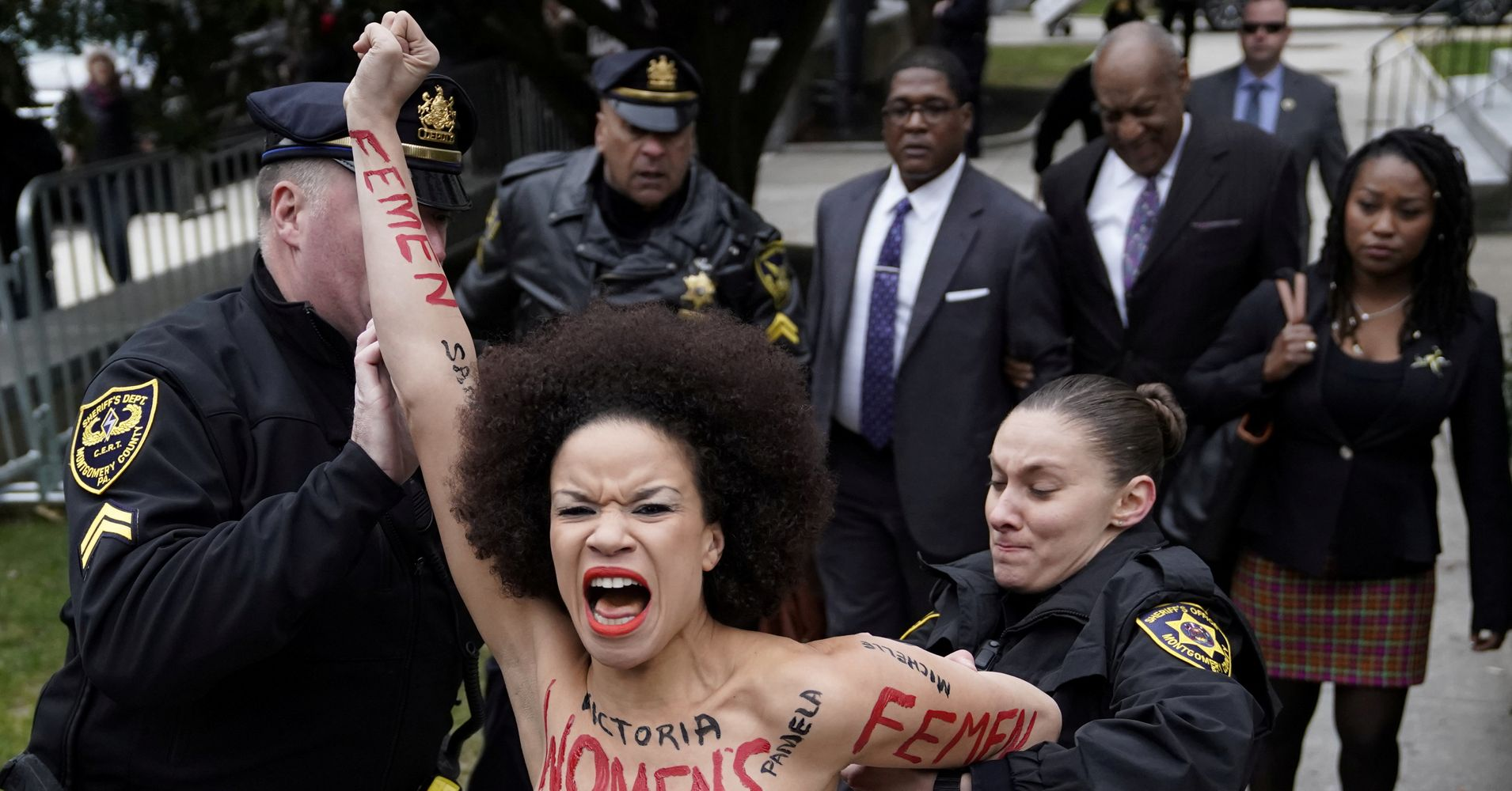 Topless Protester Says Bill Cosby Disempowered Womens
