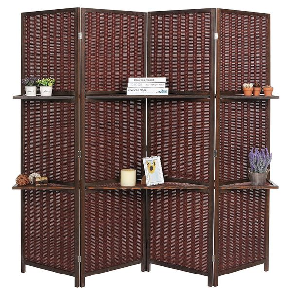 """Not only can this be a room divider, but it also doubles as removable storage. Get it on <a href=""""https://www.amazon.com/Fold"""