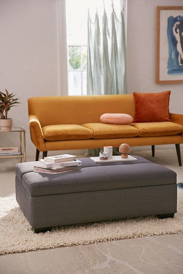 An ottoman that's a coffee table and bed all-in-one is a must-have when looking for smart multi-purpose furniture. Get it at
