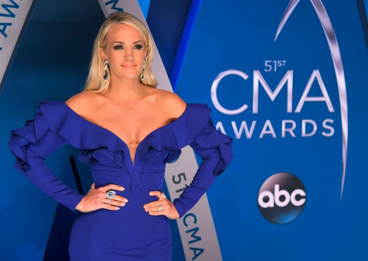 Carrie Underwood at the 2017 CMA Awards.