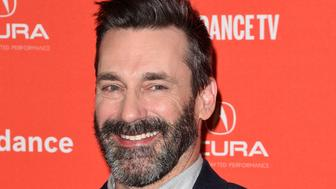 PARK CITY, UT - JANUARY 22:  Actor Jon Hamm attends the 'Beirut' Premiere during the 2018 Sundance Film Festival at Eccles Center Theatre on January 22, 2018 in Park City, Utah.  (Photo by C Flanigan/FilmMagic)