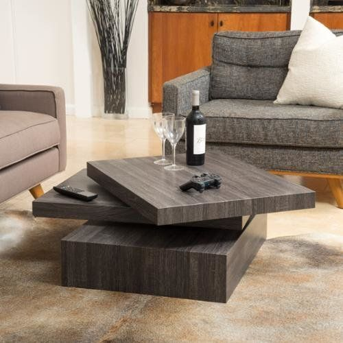 """With a rotating top, this coffee table is multi-functional and very unique. Get it on <a href=""""https://jet.com/product/detail"""
