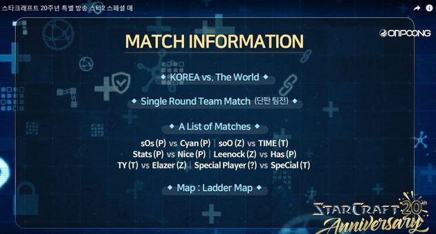 스타2 '한국 vs 세계' 경기에서 벌어진