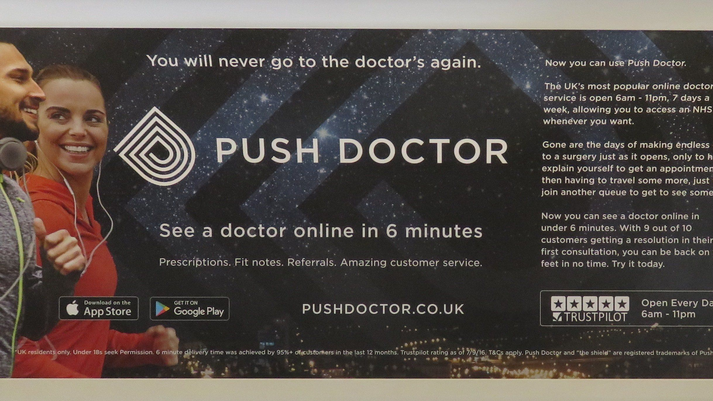 Push Doctor Ads Banned For Implying Links To