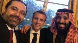 Saad Hariri, Macron et MBS tout sourire sur un selfie
