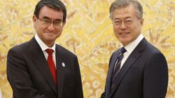 2년4개월 만에 한국에 온 일본 외무상에 문대통령이 한