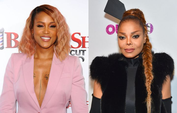 Rapper Eve, left,shared how Janet Jackson, right, took care of her at an awardshow after-party.