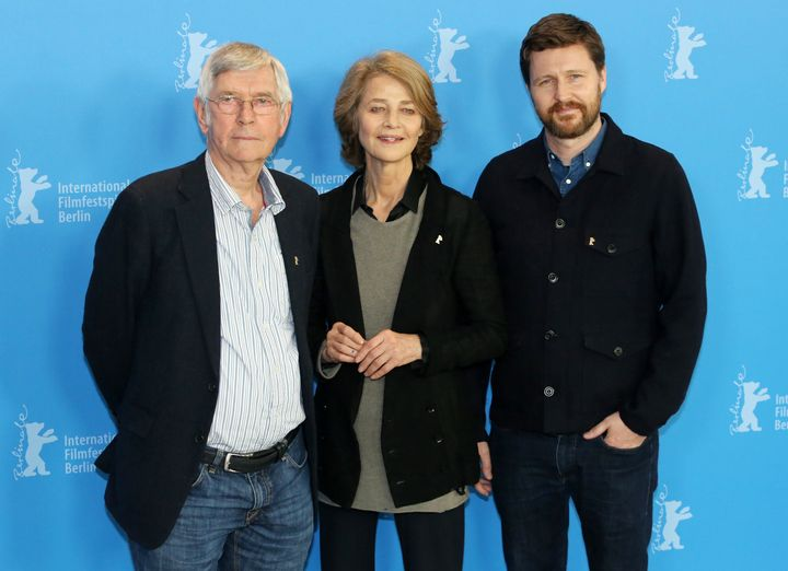 Tom Courtenay, Charlotte Rampling and Andrew Haigh attend the 2015 Berlin Film Festival.