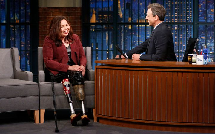 "Duckworth on ""Late Night With Seth Myers"" on Aug. 10, 2017."