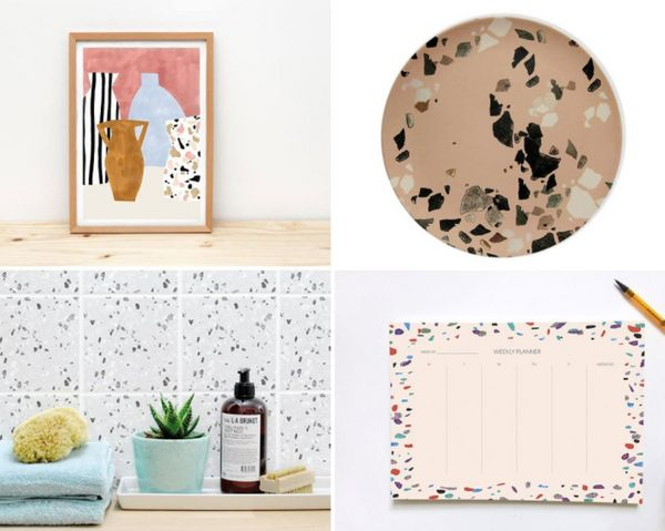Terrazzo is the pattern you've seen popping up everywhere, but didn't know the name of. The pattern is a fun way to add pops