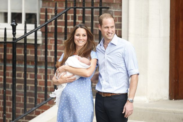 First Royal Baby Pictures Captured As Duke And Duchess Of Cambridge Leave Hospital With Their Third