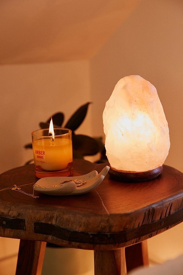 Made of natural materials, this salt lamp will add some positive vibes to your home along with ambience lighting. Get it at <