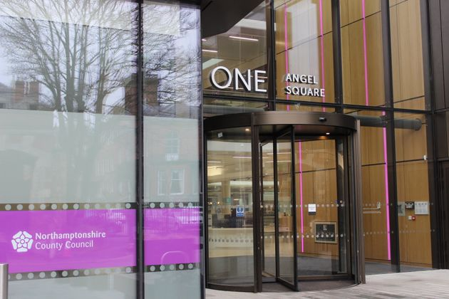 Cash-strapped Northamptonshire County Council, based in a new £53m HQ, above, used funds meant...